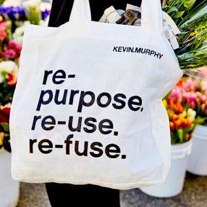 NWT Kevin Murphy linen tote bag shopper reusable